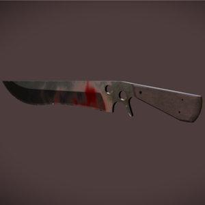 sar knife zombie 3d model
