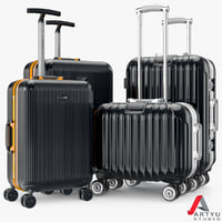 3d set bag suitcase travel