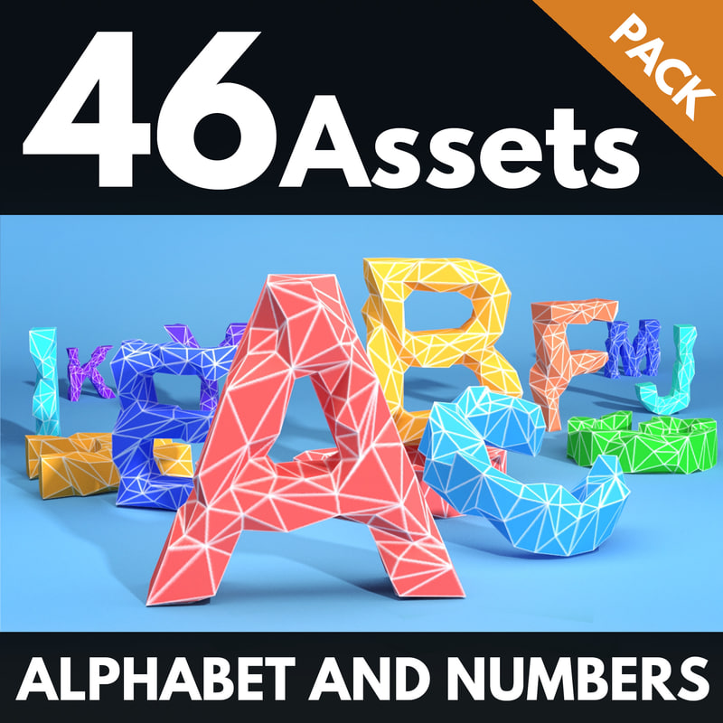alphabet numbers 3d max