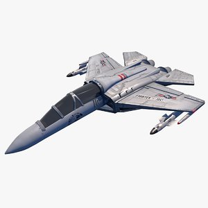3d war jet fighter aircraft