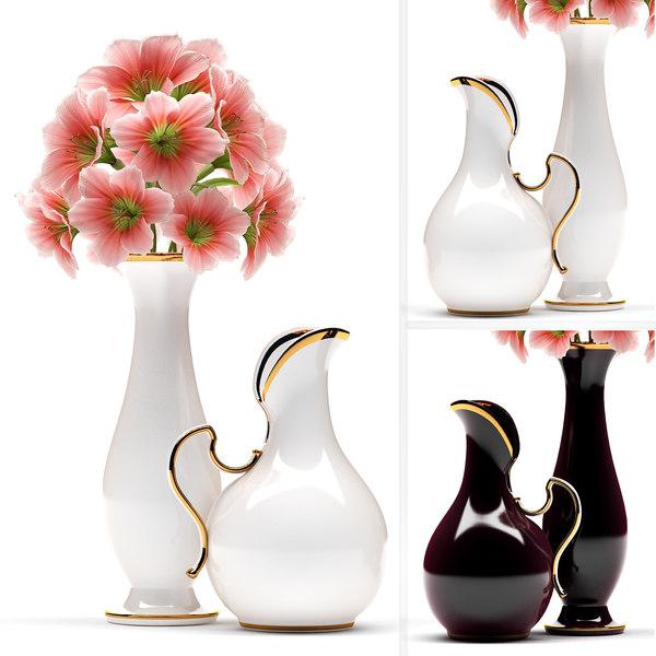 3d model arranged vase