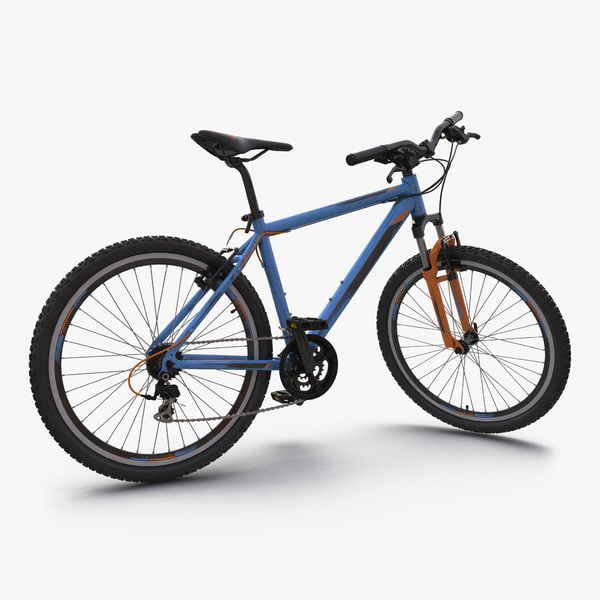 mountain bike generic blue 3d max
