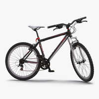 3d model mountain bike generic red