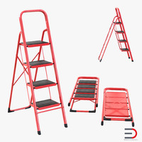 3d model step ladder set