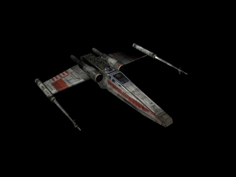 version 2-winged x-wing 3d model