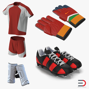 3d model soccer gear 2 football