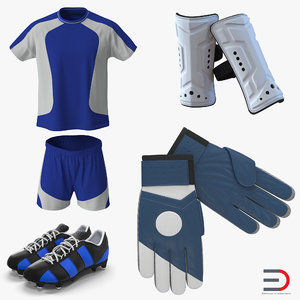 soccer gear football 3d model