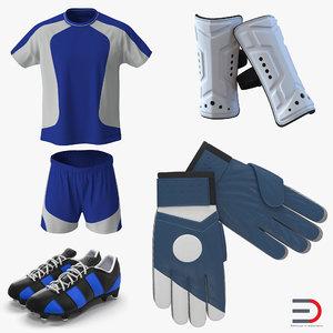 soccer gear football 3d model
