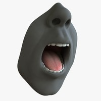 male mouth rig 3d model