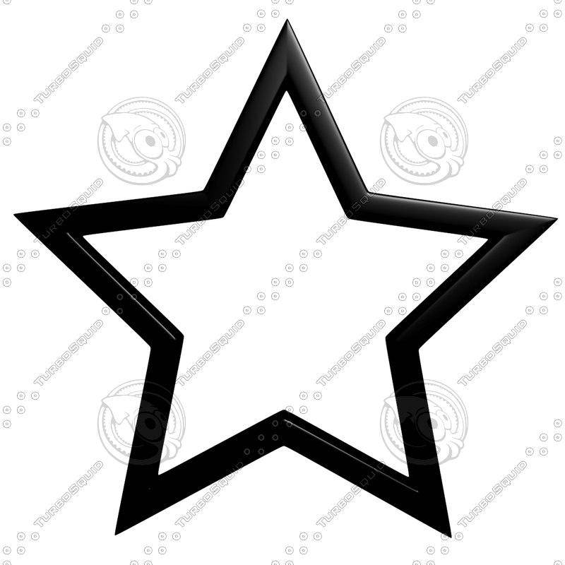 star outline 3d model