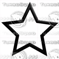 star outline 3d model