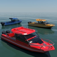 3d model stabicraft 2100 boat