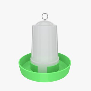 3d chicken feeder model