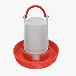 3d chicken feeder