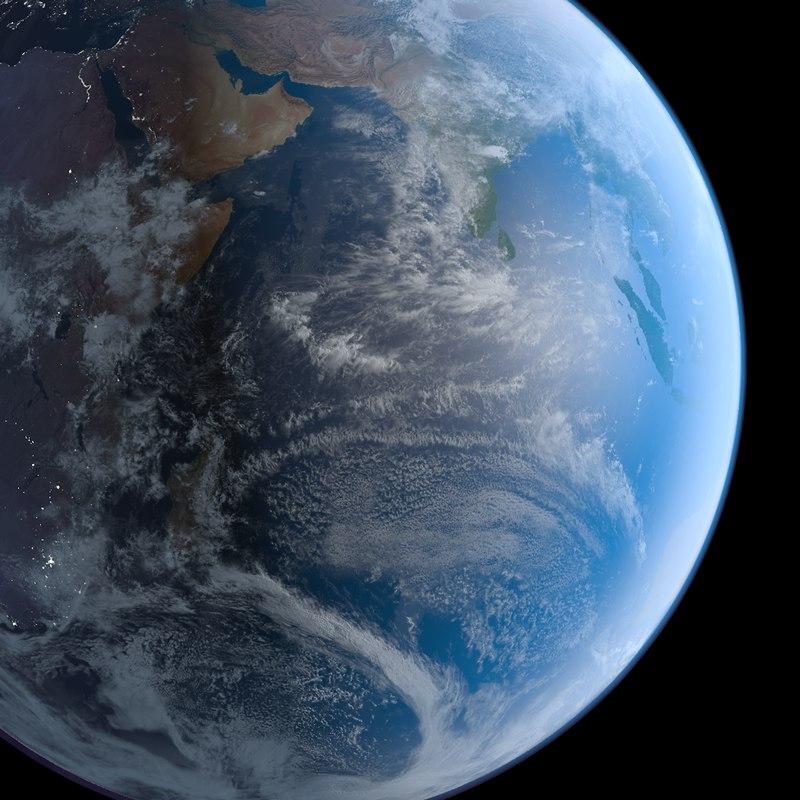 3d realistic earth