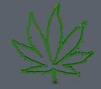 420 leaf 3d c4d