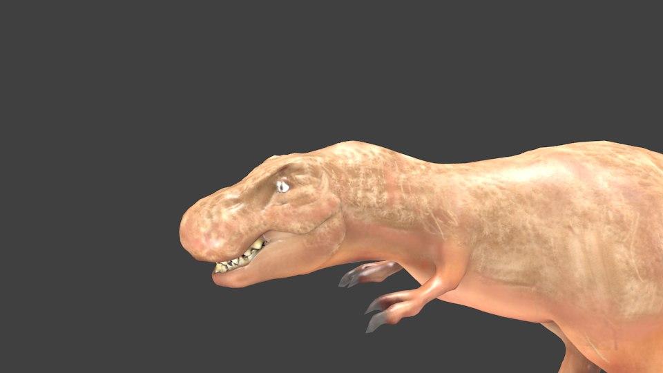 tyrannosaurio dinosaurio obj free