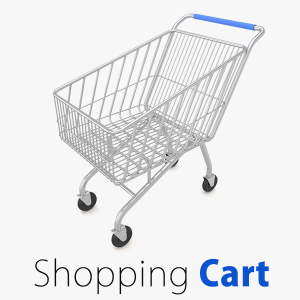 supermarket shopping cart market 3d model