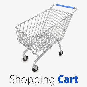 supermarket shopping cart market 3d model