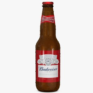 3d model budweiser beer bottle cap