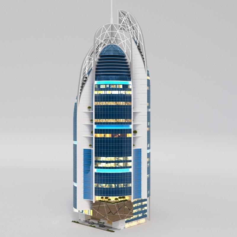 3d max skyscraper building