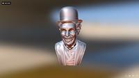 3d model charlie chaplin bust