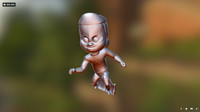 dash incredibles movie 3d obj
