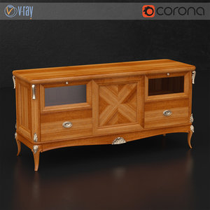 3d model vittorio grifoni tv stand
