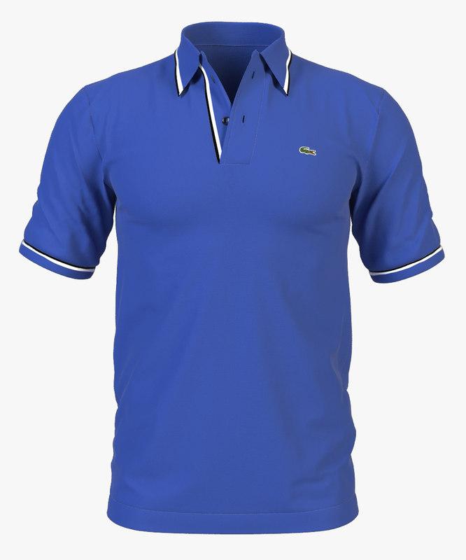 bee992affe60 3d model polo shirt