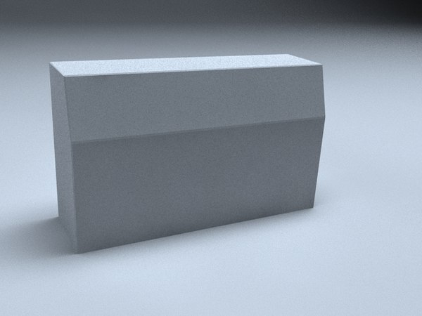 3d curbstone stone curb model