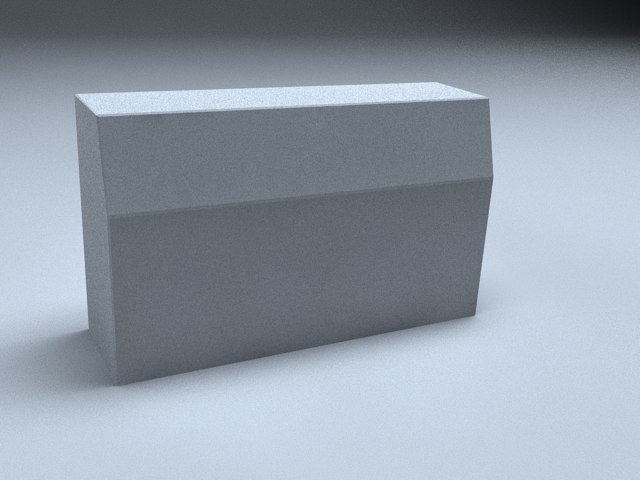 3d curbstone stone curb model