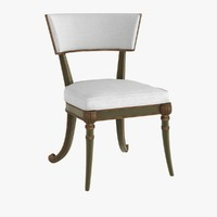 3d model chair regency klismos