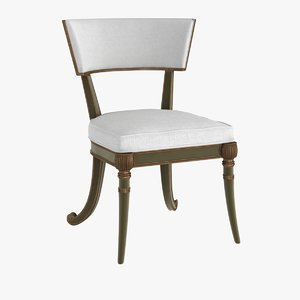 3d model chair regency klismos