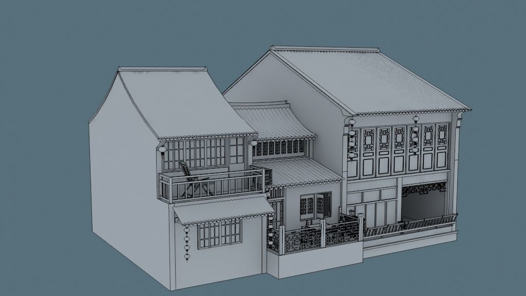 3d china house08