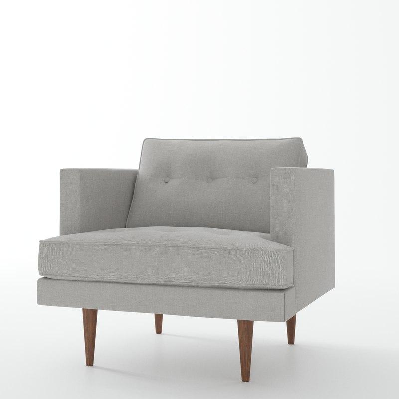 3d model peggy century armchair