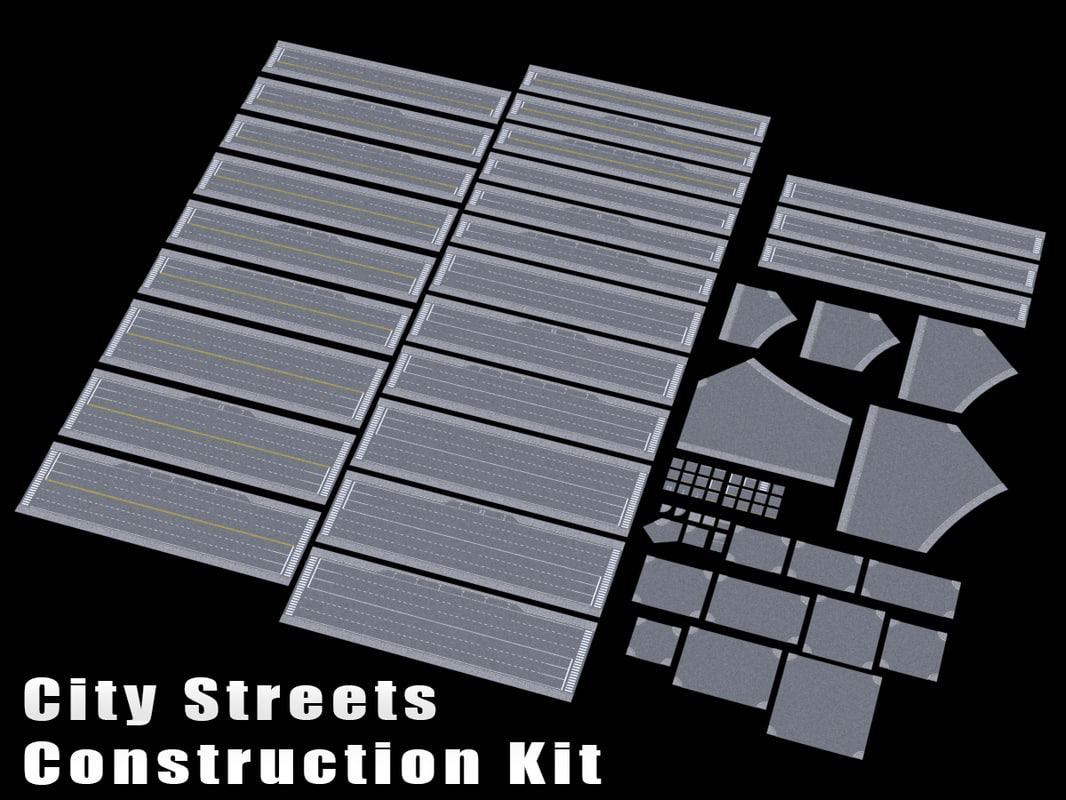 3d model kit streets city