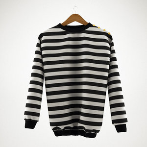 striped pullover 3d model