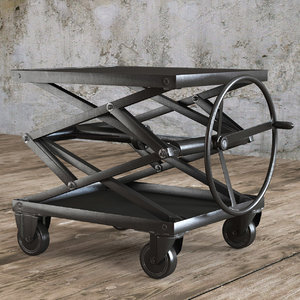 industrial scissor lift table 3d max