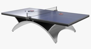 3d ping pong table model