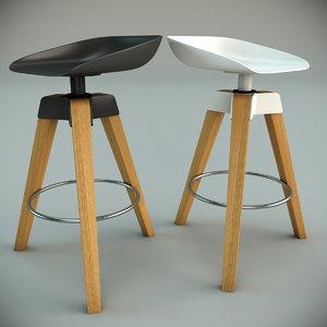 3d model bonaldo plumage stool