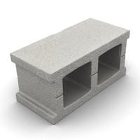 cinder block 3d model