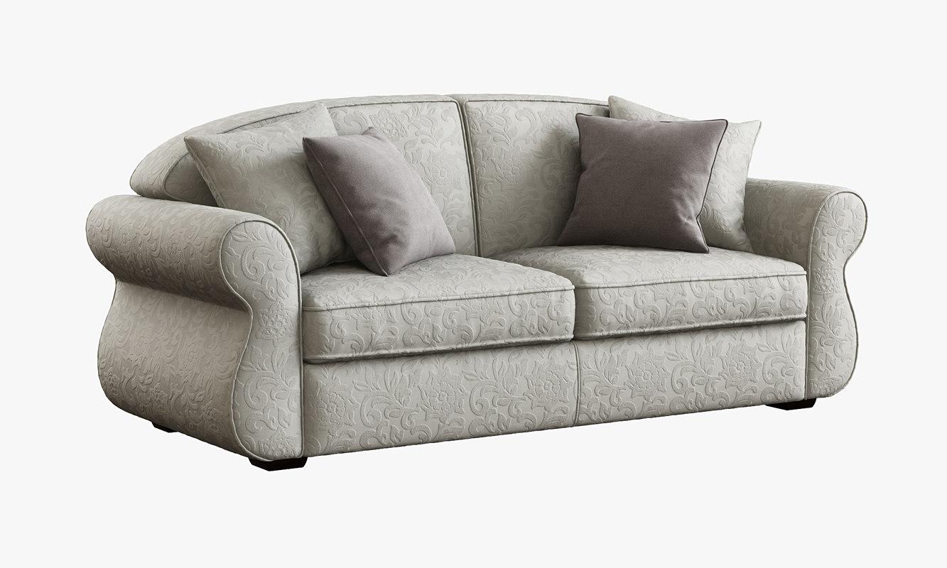 domingo salotti king sofa 3d model