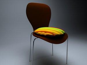 3d wooden wood chair model