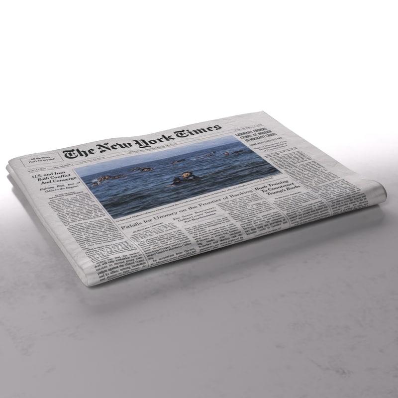 new york newspaper folds 3d ma