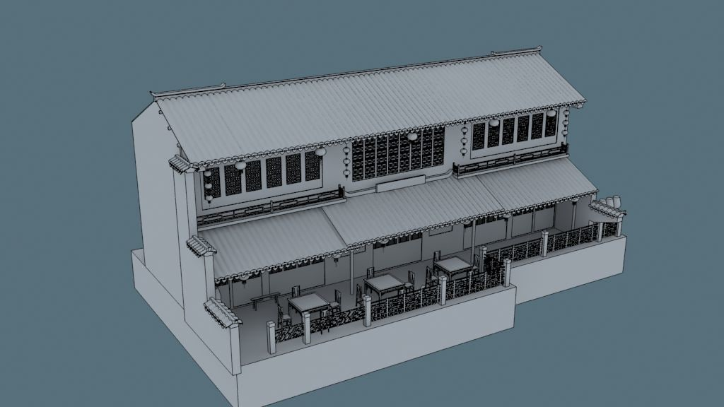 3d china house09