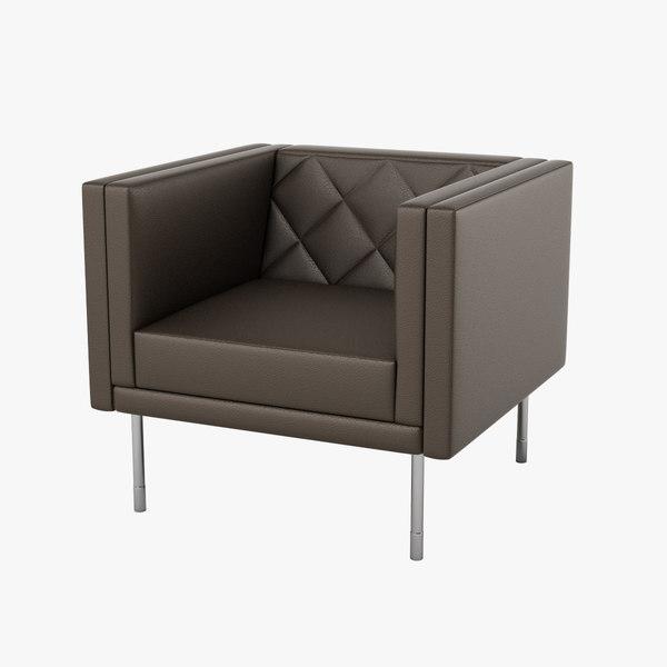3d model halle harlequin chair