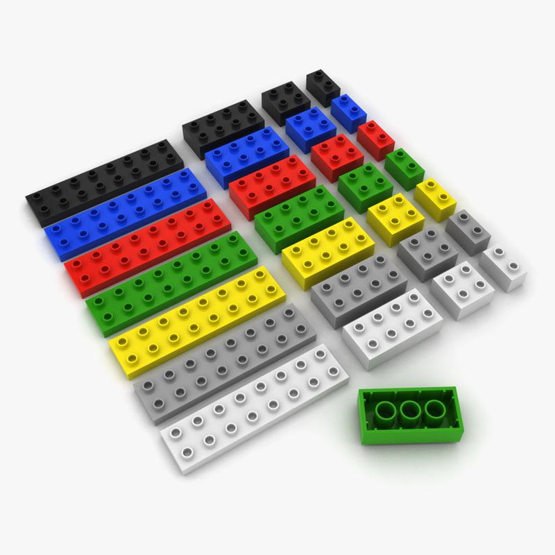 toy bricks 3d max