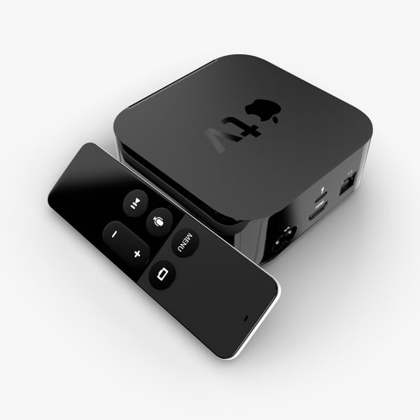 apple tv 2016 3d model