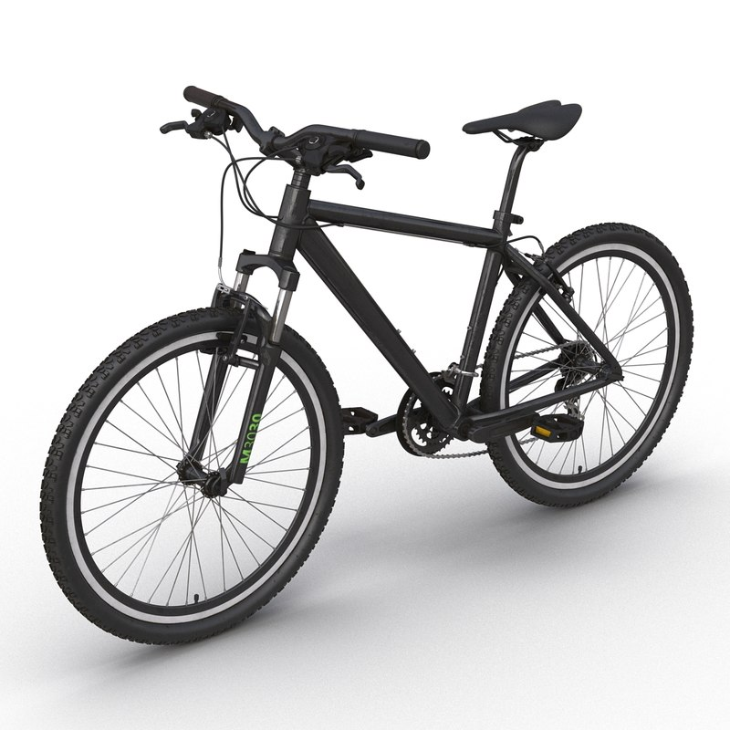 3d mountain bike generic black model
