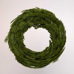 wreath decoration obj